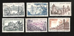 France - Oblitéré - Y&T 1955 N° 1037-1038-1039-1040-1041-1042 - Usati