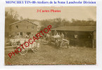 MONCHEUTIN-9eme Landwehr Division-ATELIERS-3x Cartes Photos Allemandes-GUERRE 14-18-1 WK-FRANCE-08- - France