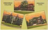 Springfield Massachusetts, Springfield College Campus Buildings, c1940s Vintage Curteich Linen Postcard