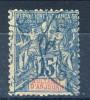 Anjouan Protettorato Francese 1892-99 Tipi Sage N. 6 C. 15 Azzurro USATO Annullo Ottagonale Azzurro Catalogo € 15