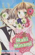 Carte Prépayée Japon - MANGA By Maki Minami - HANA TO YUME / Couple Fleur - ANIME Japan Prepaid Tosho Card - 6000 - Cinéma