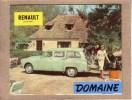 AUTOMOBILES  - PUBLICITE - DEPLIANT 3 VOLETS - RENAULT DOMAINE - Voitures