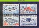 Mhc064 FAUNA VISSEN FISH FISCHE POISSONS MARINE LIFE DAHOMEY 1965 ONG/MH - Peces