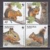Armenia 2001  WWF /  Squirrels  4v ** Mnh  (26886A) - W.W.F.