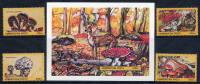AZERBAIJAN 1995 Fungi (4v + Block)  MNH / ** - Pilze