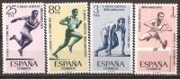 ES1450STV-LFTB120TJO.España/Spain .JUEGOS ATLETICOS IBEROAMERICANOS.Atletismo .1962.(Ed 1450/53**) - Yvert 1121-24 . - Juegos