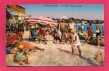 06 ALPES-MARITIMES JUAN-les-PINS, La Plage, Le Bain, Animée, Colorisée,   1932, (Photochromie A. D. St-Roch, Nice) - Otros Municipios
