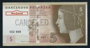 5 EURO SLOVAKIA, Canceled, Beids. Druck, Test Note? Voucher? RRRRR, UNC,  160 X 82 Mm, Serial No., Perforation CANCELED! - Slowakei
