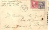 Lettre USA Novembre 1918 TP 2+3C  Vers Le Brésil Double Censure - Lettres & Documents