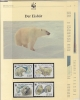 Russia 1987  WWF /   Icebear 4v ** Mnh With 3 Leaflets With Information About The Issue (W539) - W.W.F.