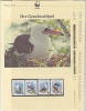 Christmas Island 1990  WWF /   Birds 4v ** Mnh With 3 Leaflets With Information About The Issue (W541) - W.W.F.