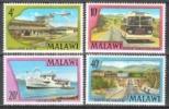 Malawi 1977 Verkehrswesen Verkehr Transport Luftfahrt Flughafen Eisenbahn Railway Omnibus Schiffe, Mi. 281-4 ** - Malawi (1964-...)