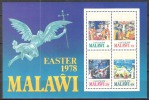 Malawi 1978 Religion Christentum Feiertage Ostern Easter Kunst Kultur Leidensweg Jesus Christus Kreuzigung, Bl. 51 ** - Malawi (1964-...)