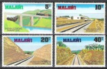 Malawi 1979 Verkehrswesen Verkehr Transport Eisenbahnen Railway Lokomotiven Trains Brücken Bridges, Mi. 324-7 ** - Malawi (1964-...)