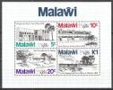 Malawi 1980 Postgeschichte Philatelie Philately Briefmarkenausstellung LONDON Architektur Gebäude Bauwerke, Bl. 58 ** - Malawi (1964-...)