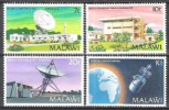 Malawi 1981 Technik Kommunikation Fernmeldewesen Funk Satelliten Antennen Weltraum Weltall Kanjedza, Mi. 360-3 ** - Malawi (1964-...)