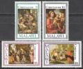 Malawi 1981 Religion Christentum Feiertage Weihnachten Christmas Kunst Kultur Gemälde Murillo Lippi Nain, Mi. 368-1 ** - Malawi (1964-...)