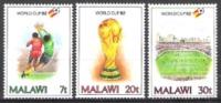 Malawi 1982 Sport Spiele Fußball Football Soccer Weltmeisterschaft Spanien Torwart Pokal Spielfeld, Mi. 380-2 ** - Malawi (1964-...)