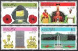 Malawi 1982 Geschichte Militär Gedenktage Denkmal Denkmäler Kriegerdenkmal Gefallene Soldaten Bauwerke, Mi. 384-7 ** - Malawi (1964-...)