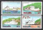 Malawi 1985 Verkehrswesen Verkehr Transport Schiffahrt Schiffe Ships Seen Lakes Motorschiffe Nyasa, Mi. 449-2 ** - Malawi (1964-...)