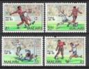 Malawi 1986 Sport Spiele Fußball Football Soccer Weltmeisterschaft Mexiko Mexico Spielszenen Ball Bälle, Mi. 465-8 ** - Malawi (1964-...)