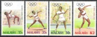 Malawi 1988 Sport Spiele Olympia Olympics Olympische Sommerspiele Seoul Leichtathletik Tennis Speer Kugel, Mi. 497-0 ** - Malawi (1964-...)