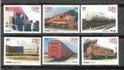 CUBA, 2010, Railways, Trains, Set 6 V, Complete, MNH, (**) - Treni