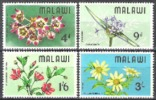 Malawi 1968 Pflanzen Plants Flora Blumen Blüten Flowers Hibiskus, Mi. 80-3 ** - Malawi (1964-...)