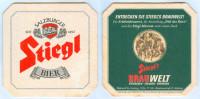 1)Bierdeckel Österreich Stiegl's Bier Salzburg Brauwelt-Museum Erlebnisbrauerei Austria Autriche Sous-bock Sottobicchier - Sous-bocks