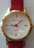 """Montre Femme """" Summer Time """" Quartz  Bracelet Et Chiffres Romains Rouges - Fonctionne (voir Photos) - Montres Bijoux"""