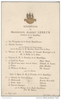 Réception Du Président De La République/ Albert LEBRUN/ Président  Conseil Municipal/Préfet De La Seine/ 1932  PROG67bis - Programmes