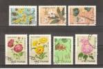 VIETNAM - LOT DE 7 TIMBRES OBLITERES - FLEURS - FLOWERS - Viêt-Nam