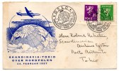 POLAIRE - SKANDINAVIA TOKIO - 24 Février 1957 (enveloppe) - TAAF : Franse Zuidpoolgewesten