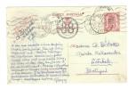Entier CP 1 Fr.petit Sceau De L'Etat Chatelineau En 1945 Censure Contrôle Des Com.ds 1 Double Cercle 38 V.Setubal PR2566 - WW II