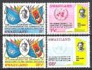 Swasiland Swaziland 1969 Organisationen Vereinte Nationen UNO ONU Fahnen Flaggen Flags Wappen, Mi. 175-8 ** - Swaziland (1968-...)