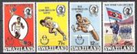 Swasiland Swaziland 1970 Organisationen Commonwealth Sport Spiele Leichtathletik Laufen Fahnen Flaggen, Mi. 179-2 ** - Swaziland (1968-...)