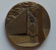 Cergy Pontoise 95 Médaille En Relief En Bronze Vers 1990 Par Robert Séguineau Sculpteur - France