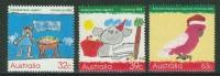 Australie //  1988// Série Courante ** Timbres De Noël, Dessins D'enfants  Yvert & Tellier No. 1103 à 1105 - 1980-89 Elizabeth II