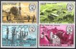 Swasiland Swaziland 1978 Wirtschaft Technik Energie Kraftwerke Elektrizität Strom Turbinen Umspannanlage, Mi. 289-2 ** - Swaziland (1968-...)