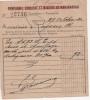 Reçu Transport COMPAGNIE Ferroviaire  FONCIERE ET MINIERE DE MADAGASCAR - TANANARIVE TSARALALANA Fret  Charbon  En 1930 - Trasporti