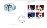 2001 Canada World Figure Skating Championships  47c Plate Block First Day Cover - 2001-2010