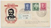 ICELAND 1954 Hafstein Set Of 3 On FDC.  Michel 293-95 - FDC