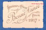 CPA - Souvenir D' ORIENT - Bonne Année Pour 1917 - TOP RARE - Armée D'Orient WW1- Serbie Dardanelles Macédoine Turquie - War 1914-18