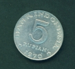 INDONESIA  -  1970  5r  Circulated Coin - Indonesia