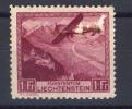03704  -  Liechtenstein  -  Avion  :   Yv  6  * - Poste Aérienne
