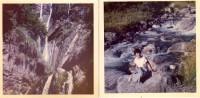 Photo Originale Hautes-Pyrénées - Cascades Au Col Du Tourmalet - 2 Photos - Dont Cascade Du Gros Hêtre - En 1960 - Lieux
