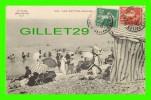 LES PETITES-DALLES (76) - PLAGE ANIMÉE - LE LITTORAL, L. J. - CIRCULÉE EN 1913 - - France