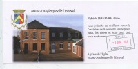 Anglesqueville L´Esnevalle : Mairie Ecole - Voeux Patrick Lefebvre Maire - France