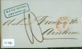 POSTHISTORIE * HANDGESCHREVEN BRIEF Uit 1855 Van AMSTERDAM Naar FROWEIN Te ARNHEM * FIRMASTEMPEL (10.290) - Pays-Bas