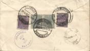 G)1916 PERU, SAN MARTIN-MANCO CAPAC B/2 AT THE BACK, CIRCULAR BLACK COLWYN BAY MARK, MANUSCRIPT VIA PANAMA, CIRCULATED C - Peru
